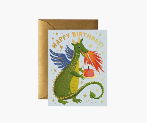Rifle Paper Co - Single Card - Birthday Dragon