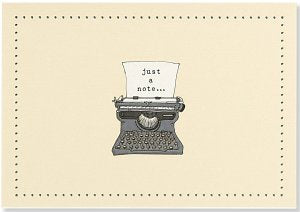 NOTE CARD- TYPEWRITER