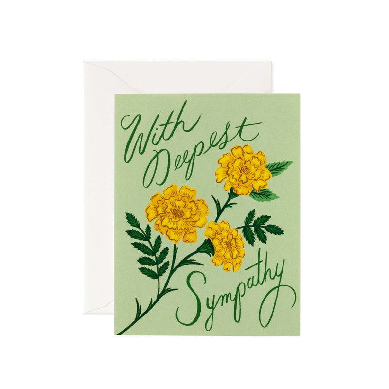Rifle Paper Co - Single Card - Marigold Sympathy