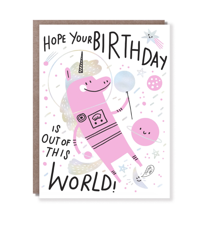 Hello Lucky - Single Card - Out of This World Birthday