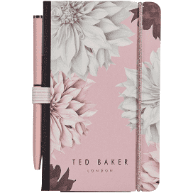 Ted Baker Mini Notebook & Pen - Pink Clove
