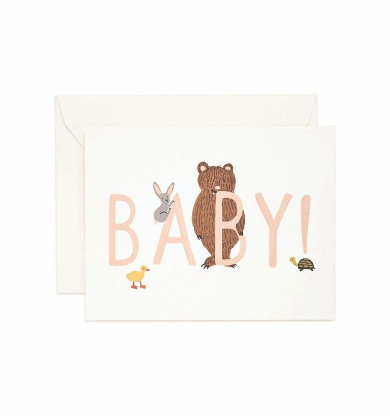 Rifle Paper Co - Single Card - Baby! (Peach)
