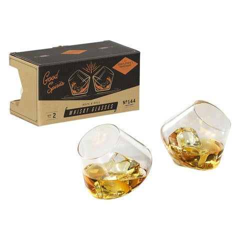 Gentlemen's Hardware Set of 2 Rocking Whiskey Glasses