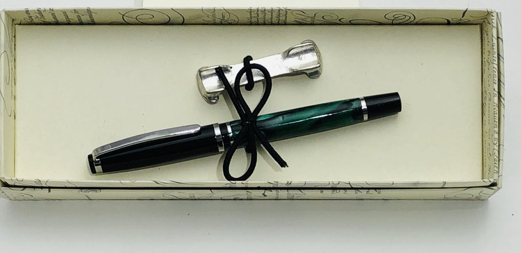 Pen - Rollerball Green Marble