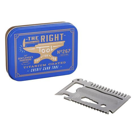 Gentlemen's Hardware Titanium Finish Credit Card Tool