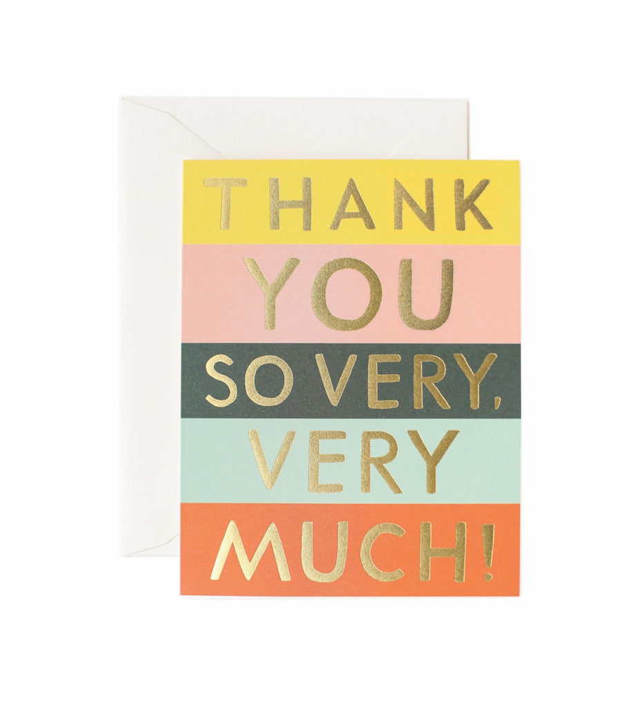 Rifle Paper Co - Single Card - Colour Block Thank You