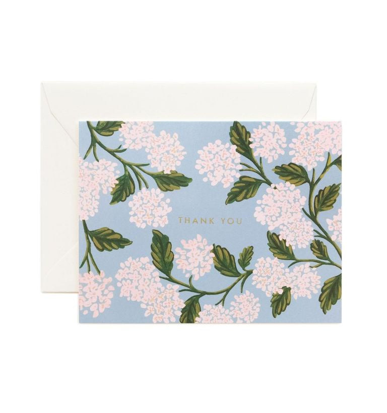 Rifle Paper Co - Single Card - Hydrangea Thank You