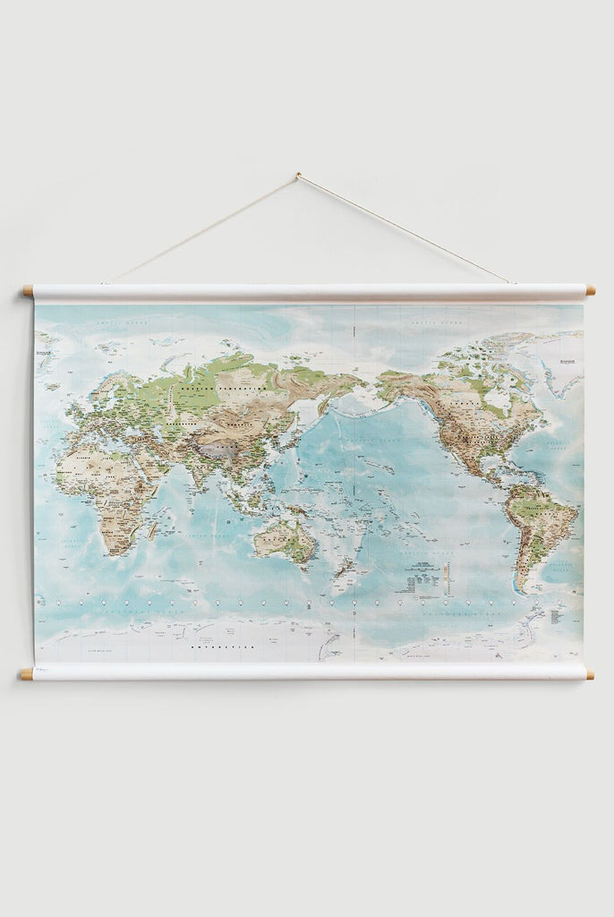WORLD MAP - CANVAS SML