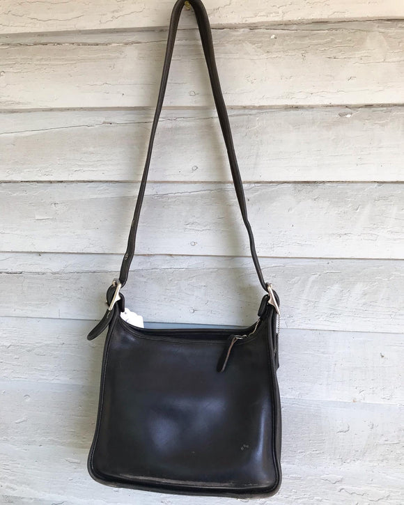 1990's Black coach leather bag.