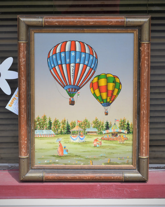 Hot Air Ballon Oil Painting