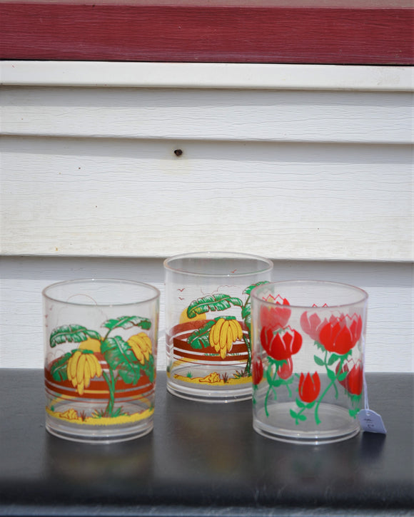 Tropical & Floral cup set