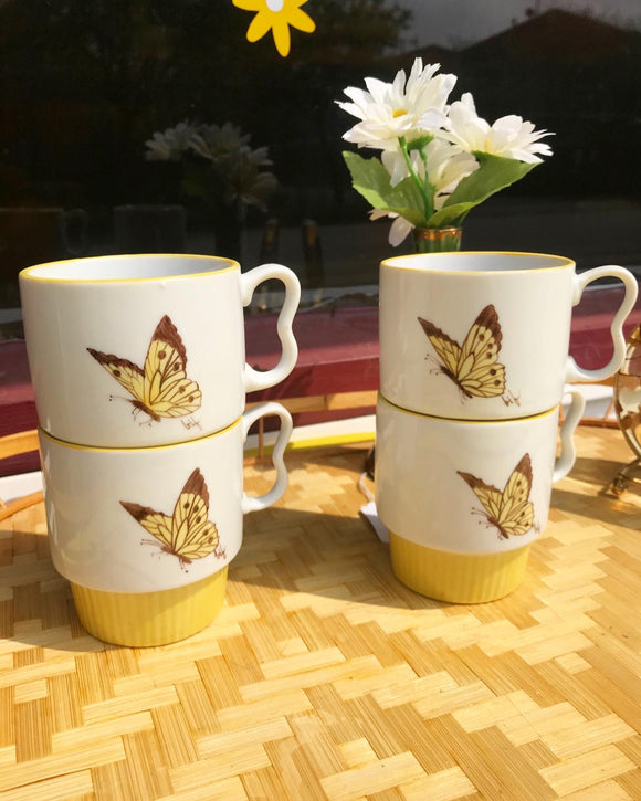 Butterfly stack up mugs set of 4. ⁣ ⁣⁣⁣⁣⁣⁣⁣⁣⁣