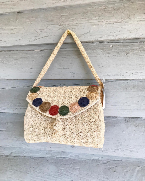 Japanese Crochet Straw handbag. ⁣ ⁣