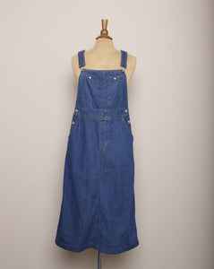 1990's Denim Overall Jumper Dress
