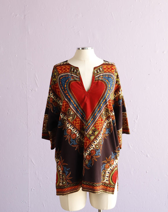 Burgundy Dashiki top