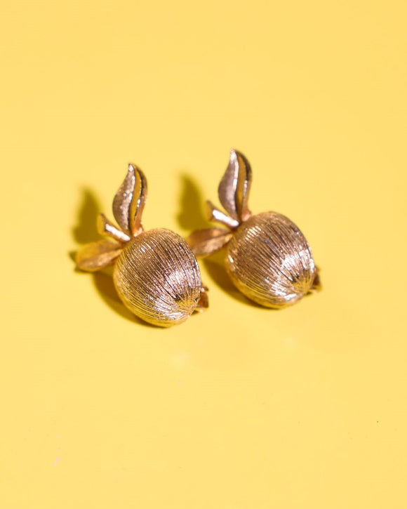 1960's Sarah Coventry gold cherry earrings