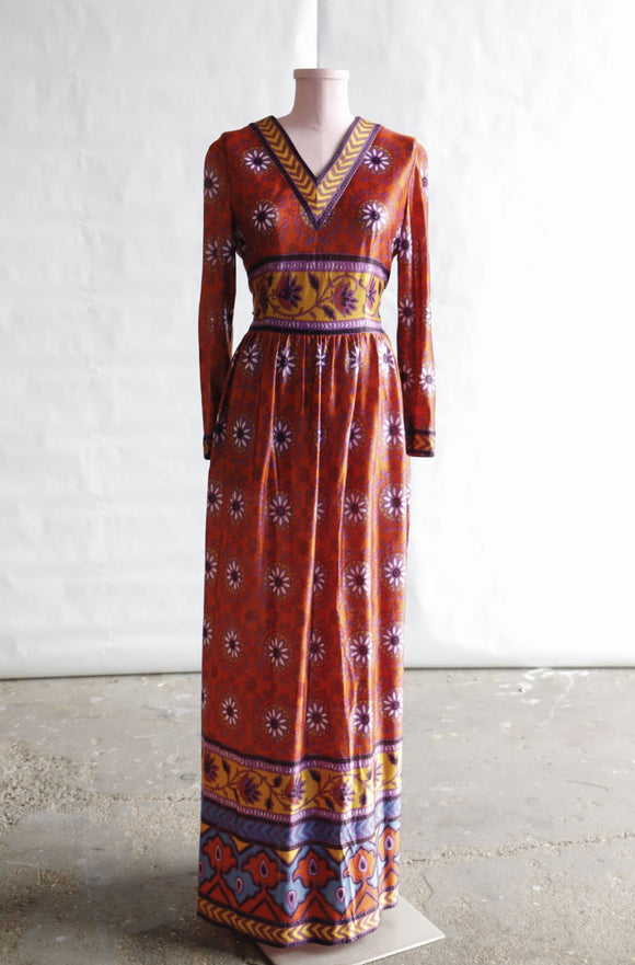 1970's Psychedelic maxi dress