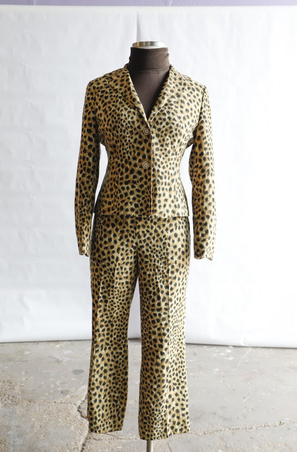 Y2K Cheetah 2 Piece Pant set