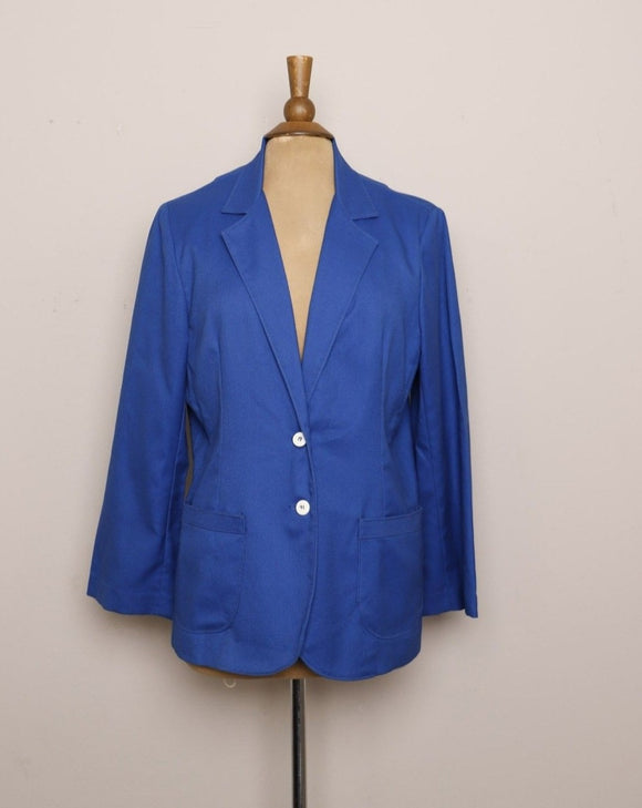 1990's Electric blue blazer