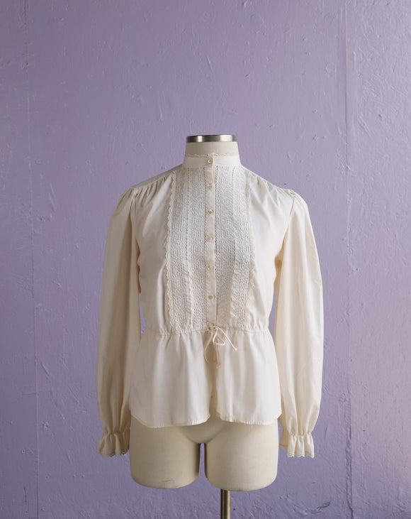 1970's Ivory Prairie style Blouse