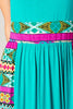 Tribal Aztec Teal Womens Summer Maxi Dress Made In USA