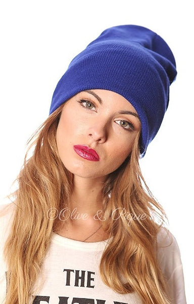 Olive Navy Blue or Wine Basic Fashion Skull Cap Knit Beanie