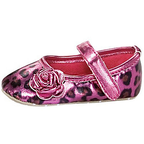 Fuchsia Metallic Cheetah Infant Girl Maryjane Kids Shoes