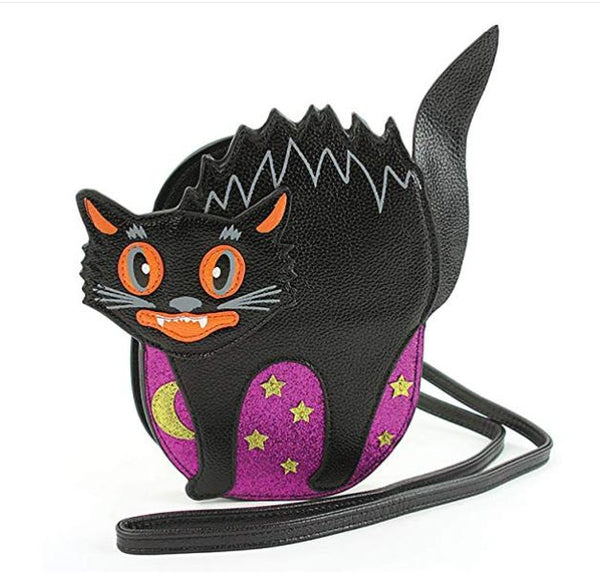 Scary Cat Crossbody Halloween Purse