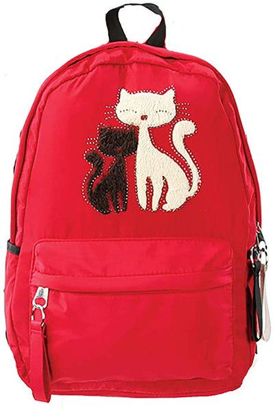 "Furry Cats 17"" Red Backpack Multipurpose Lightweight Daypack…"