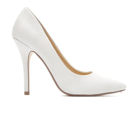 Dove Grey Date by Delicious Classic Pointy Toe Heels Women's Shoes