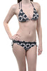 Retro Black Red Polka Dot Womens Bikini Swimsuit