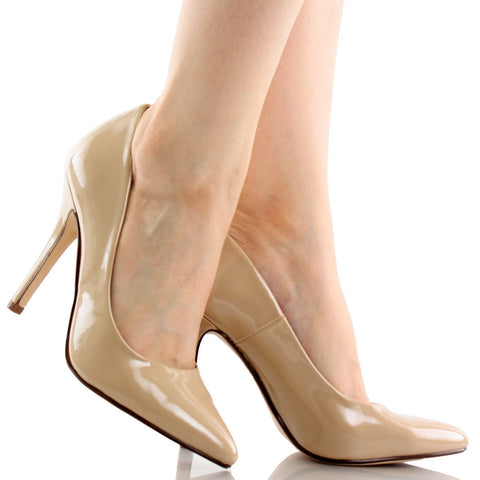 Date by Delicious Classic Patent Pointy Toe Heels Women's Shoes