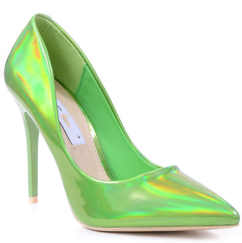 a7dd91f92c7 Metallic Green Classic Pointy Toe High Heel Stiletto Pumps Womens Shoes ...