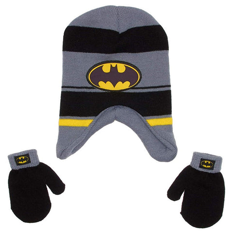 Boys Batman Peruvian Hat & Gloves Set One Size