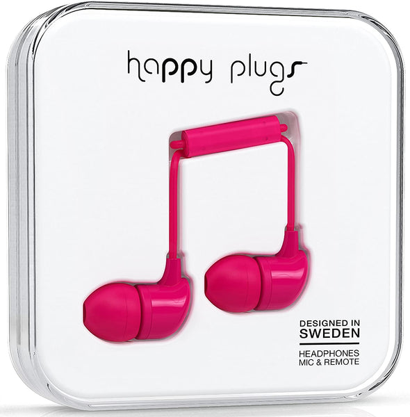 Happy Plugs In-Ear Earphones - Cerise