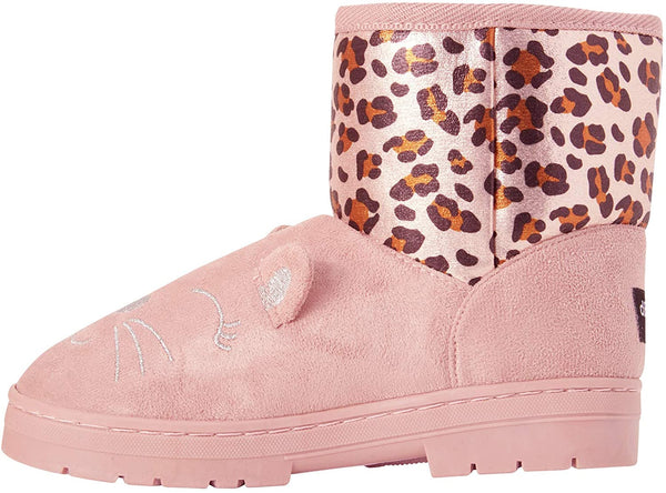 dELiAs Girls' Cat Winter Boots with Shimmery Leopard Print (Toddler/Little Girl/Big Girl)