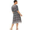 Lucky Brand Women Plus Size Printed Peasant Dress 3X