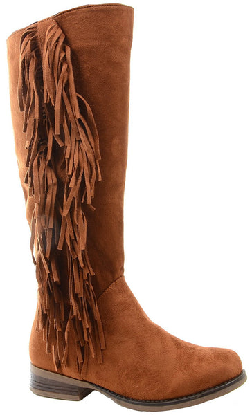 Camel Ailsa Fringe Vegan Suede Women's Knee Boot