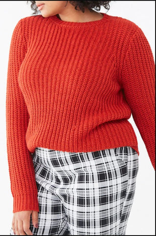 Plus Size Chunky Knit Sweater