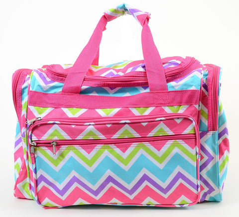 Bright Chevron Duffle Vegan Carrying Cheer Workout Luggage Bag