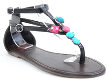 Load image into Gallery viewer, Gemstone Thong Flat Flip-flop Sandal