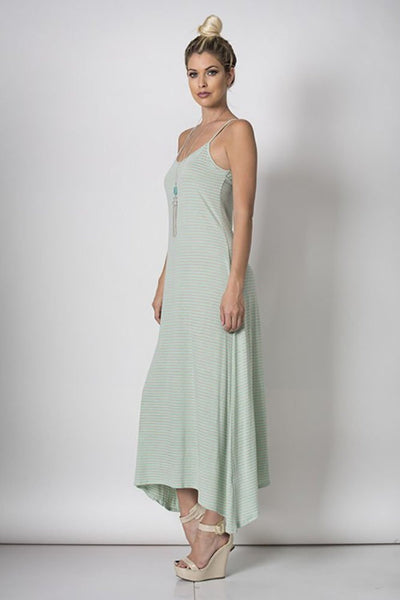 Mint Spaghetti String Cut Out Back Maxi Dress U.S.A