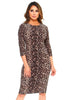Womens Sexy Leopard Print Fitted Bodycon Cocktail Fashion Dress