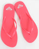 Roxy Flip Flops (Size 10) Bundle with Beach Bag Pink Hawaiian Flower Tote