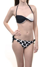 Load image into Gallery viewer, Black White Color Block Heart Sexy Womens Bikini Swimsuit