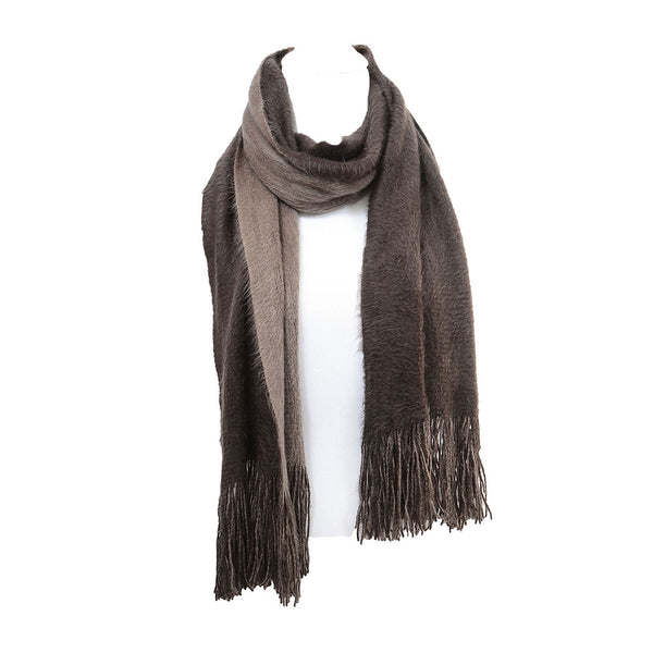 Soft Faux Fur Fuzzy Cold Weather Scarf Wrap Fringe Unisex