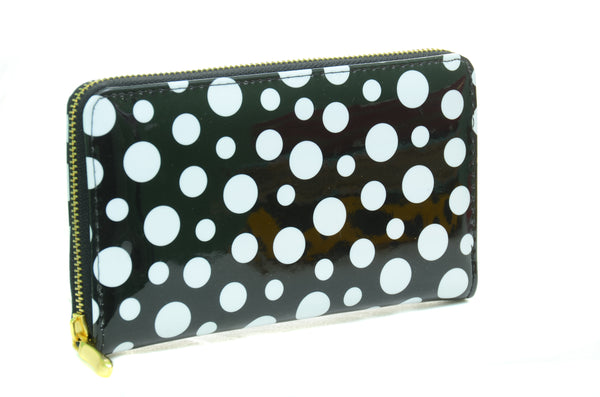 Vegan Patent Leather Funky Polka Dot Bi-Fold Wallet