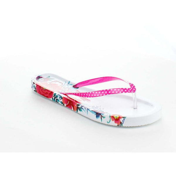 Tropical Print Women's Open Toe Flip Flop Sandals