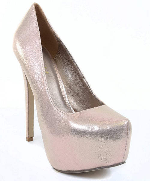 Iridescent Bridal Wedding Mesh Almond Toe Stiletto Platform Pump