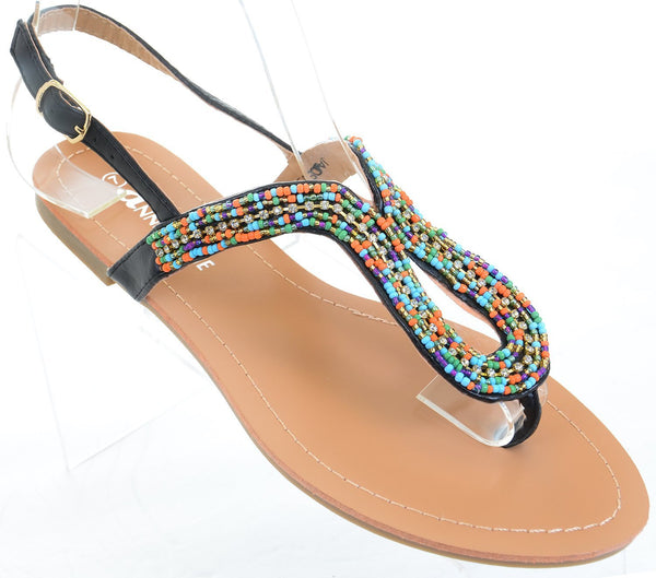 Colorful Boho Summer Thong Slip On Flip-flop Flat Sandals